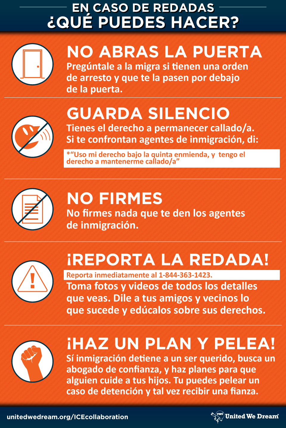 Know Your Rights en espagnol
